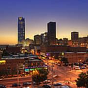 Oklahoma City Nights Poster by Ricky Barnard