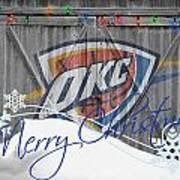 Oklahoma City Thunder Poster by Joe Hamilton