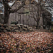Old Barn In Autumn Poster by Edward Fielding