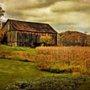 Old Barn In October Poster by Lois Bryan