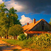 Old Farm On The Country Side Poster by Sasa Prudkov