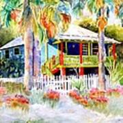 Old Florida House  Poster by Joan Dorrill