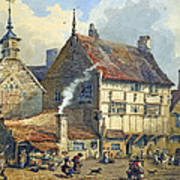 Old Houses And St Olaves Church Poster by George Shepherd