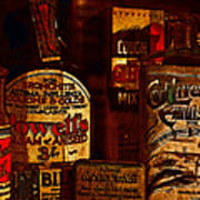 Old Pharmacy Bottles - 20130118 V2b Poster by Wingsdomain Art and Photography
