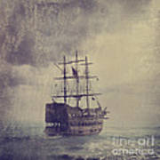 Old Pirate Ship Poster by Jelena Jovanovic
