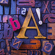 Old Typesetting Fonts Poster by Garry Gay