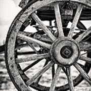 Old Wagon Wheels Poster by Jane Rix