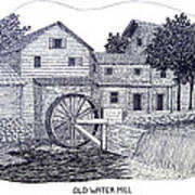 Old Water Mill Poster by Frederic Kohli