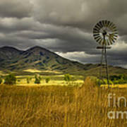 Old Windmill Poster by Robert Bales