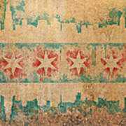 Old World Chicago Flag Poster by Mike Maher