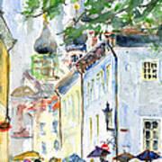 Oldtown Tallinn Estonian Poster by John D Benson