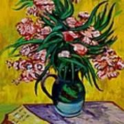 Oleanders Poster by Karon Melillo DeVega