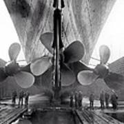 Titanic Propellers 1911 Poster by Stefan Kuhn