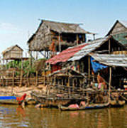 On The Shores Of Tonle Sap Poster by Douglas J Fisher