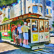 On Tram In San Francisco Poster by Yury Malkov