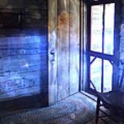 Open Cabin Door With Orbs Poster by Jill Battaglia