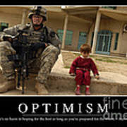 Optimism Inspirational Quote Poster by Stocktrek Images