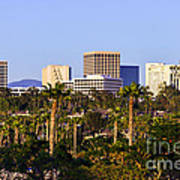 Orange County California Office Buildings Picture Poster by Paul Velgos