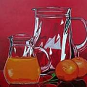 Orange Juggle Poster by Sandra Marie Adams