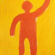 Orange Person Poster by Igor Kislev