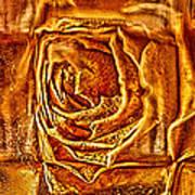 Orange Rose Poster by Omaste Witkowski