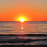 Orange Sunset  Poster by Sharon Cummings