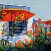 Orange Umbrellas Poster by Candy Mayer