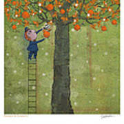 Oranges And Dragonfly One Poster by Dennis Wunsch