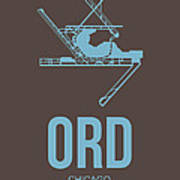 Ord Chicago Airport Poster 2 Poster by Naxart Studio