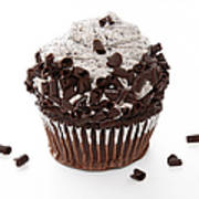 Oreo Cookie Cupcake Poster by Andee Design