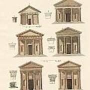 Origin And Development Of Architecture Poster by Splendid Art Prints