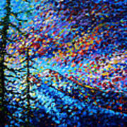 Original Abstract Impressionist Landscape Contemporary Art By Madart Mountain Glory Poster by Megan Duncanson
