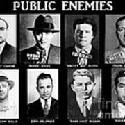 Original Gangsters - Public Enemies Poster by Paul Ward