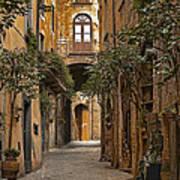 Orvieto Side Street Poster by Lynn Andrews