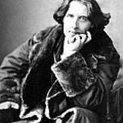 Oscar Wilde In His Favourite Coat 1882 Poster by Napoleon Sarony
