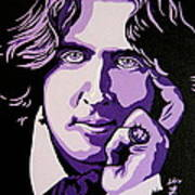 Oscar Wilde Poster by Rebecca Mott