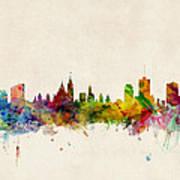 Ottawa Skyline Poster by Michael Tompsett
