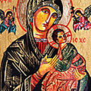 Our Lady Of Perpetual Help Icon Poster by Ryszard Sleczka