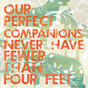 Our Perfect Companion Poster by Debbie DeWitt