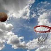 Outdoor Basketball Shot Poster by Lane Erickson