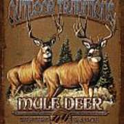 Outdoor Traditions Mule Deer Poster by JQ Licensing