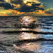 Outer Banks - Radical Sunset On Pamlico Poster by Dan Carmichael