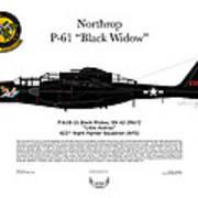 P-61b Black Widow Poster by Arthur Eggers