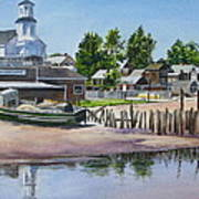 P' Town Boat Works Poster by Karol Wyckoff