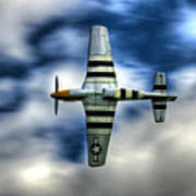 P51d Mustang Ferocious Frankie Poster by Phil 'motography' Clark