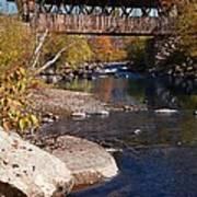 Packard Hill Bridge Lebanon New Hampshire Poster by Edward Fielding
