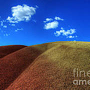 Painted Hills Blue Sky 1 Poster by Bob Christopher
