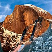 Painting Half Dome Yosemite N P Poster by Bob and Nadine Johnston