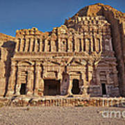 Palace Tombin Nabataean Ancient Town Petra Poster by Juergen Ritterbach