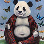 Panda Buddha Poster by James W Johnson